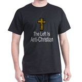 Left Anti-Christian Black T-Shirt