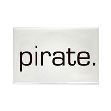 Pirate Rectangle Magnet (100 pack)