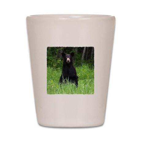 Black Bear pointing Shot Glass
