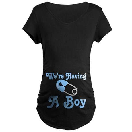 Having A Boy Pregnancy Announcement Maternity Dark