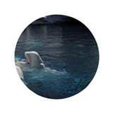 "Beluga Whales 3.5"" Button (100 pack)"
