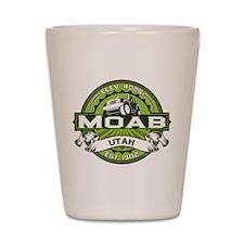 Moab Green Shot Glass