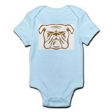 Bulldog Baby onesie/creeper