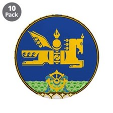 "Mongolia Coat Of Arms 3.5"" Button (10 pack)"