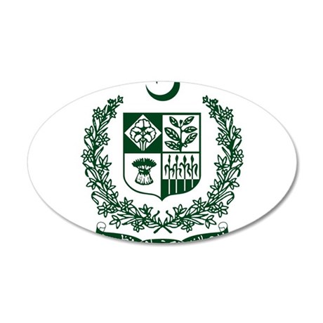 Pakistan Coat Of Arms 20x12 Oval Wall Decal