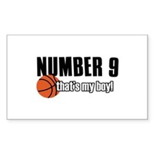 Basketball Parent Of Number 9 Decal