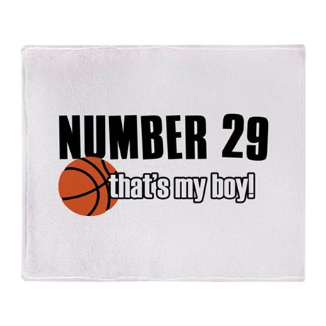 Basketball Parent Of Number 29 Throw Blanket