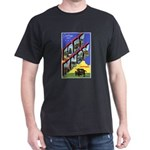 Fort Knox Kentucky (Front) Black T-Shirt