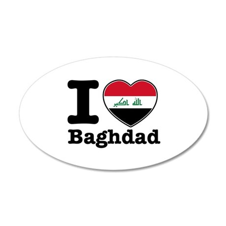 I Love Baghdad 35x21 Oval Wall Decal