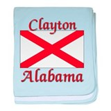 Clayton Alabama baby blanket
