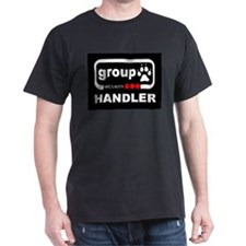 Group Paw Handler Black T-Shirt