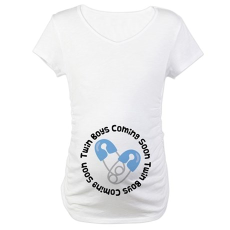 Twin Boys Pregnancy Maternity T-Shirt