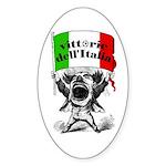 Vittorie dell'Italia Oval Sticker