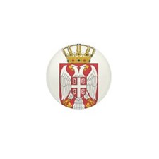 Serbia Lesser Coat Of Arms Mini Button (10 pack)