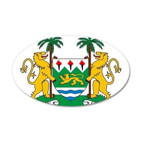 Sierra Leone Coat Of Arms 20x12 Oval Wall Decal