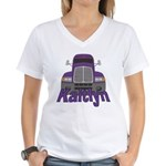 Trucker Kaitlyn Women's V-Neck T-Shirt