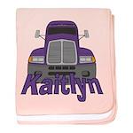 Trucker Kaitlyn baby blanket