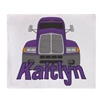 Trucker Kaitlyn Throw Blanket