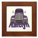 Trucker Kaitlyn Framed Tile