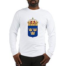 Sweden Lesser Coat Of Arms Long Sleeve T-Shirt
