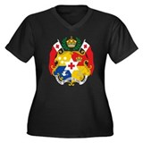 Tonga Coat Of Arms Women's Plus Size V-Neck Dark T