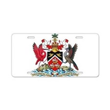 Trinidad and Tobago Coat Of Arms Aluminum License