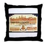 Cambodia Grand Hotel Throw Pillow