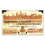 Cambodia Grand Hotel Rectangle Sticker