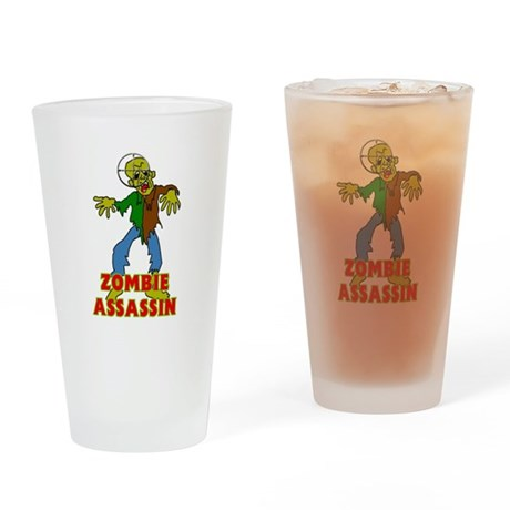 ZOMBIE ASSASSIN Drinking Glass