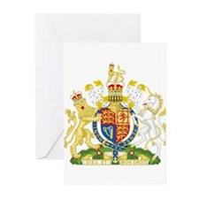 United Kingdom Coat Of Arms Greeting Cards (Pk of