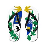 Uruguay Coat Of Arms Flip Flops