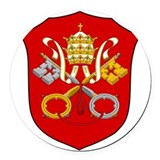Vatican City Coat Of Arms Round Car Magnet