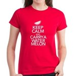 Keep Calm Carry a Watermelon Women's T-Shirt
