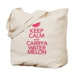 Keep Calm Carry a Watermelon Tote Bag