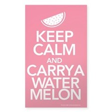 Keep Calm Carry a Watermelon Decal