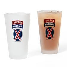 10th Mountain Sapper Drinking Glass