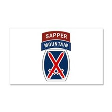 10th Mountain Sapper Car Magnet 20 x 12