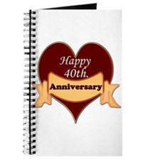 Unique 40th wedding anniversary Journal