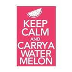 Keep Calm Carry a Watermelon Mini Poster Print