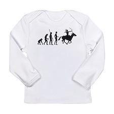 Evolution Indianer.png Long Sleeve Infant T-Shirt