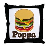 Poppa BBQ Grilling Grandpa Throw Pillow