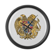 Armenia Coat Of Arms Large Wall Clock