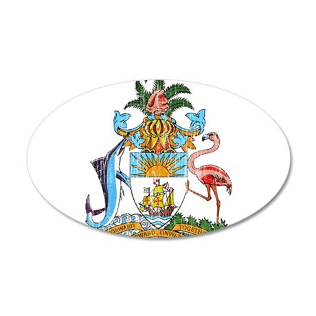 Bahamas Coat Of Arms 20x12 Oval Wall Decal