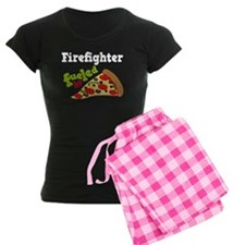 Firefighter Funny Pizza pajamas