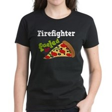 Firefighter Funny Pizza Tee