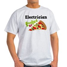 Electrician Funny Pizza T-Shirt