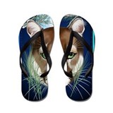 Midnight Moutian Lion- Flip Flops