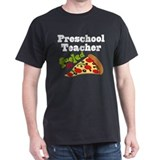 Preschool Teacher Funny Pizza Camisetas