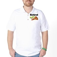 Retired Funny Pizza T-Shirt