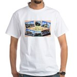 Camp Beale California (Front) White T-Shirt